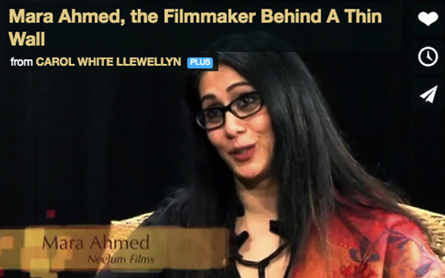 Mara Ahmed, the Filmmaker Behind A THIN WALL by Carol White Llewellyn, RCTV